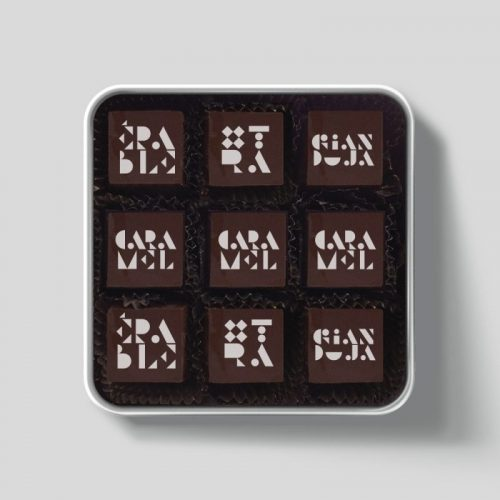 Metal box - 9 chocolates