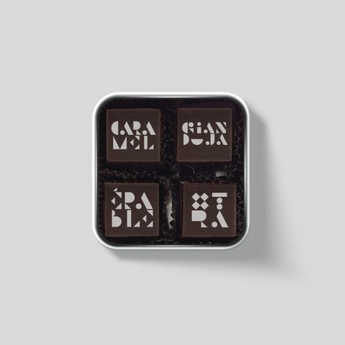 Metal box - 4 chocolates