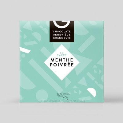 Carré Menthe Poivrée, Chocolat Geneviève Grandbois