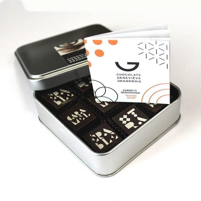 Metal box - 9 chocolates