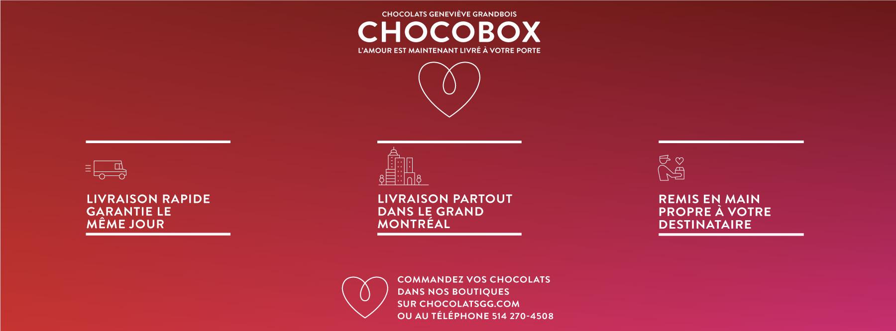 Service de livraison Chocobox Chocolats GG - Saint-Valentin