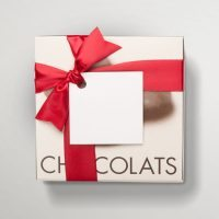 Carton gift box with 4 chocolate products