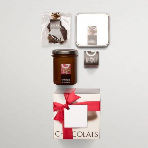 Boite cadeau en carton 4 produits