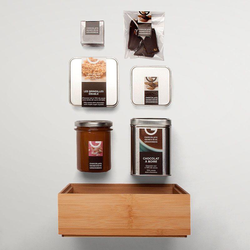 Panier corporatif 6 produits | Chocolats Geneviève Grandbois