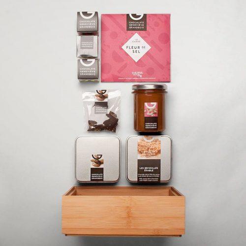 Panier corporatif 8 produits | Chocolats Geneviève Grandbois