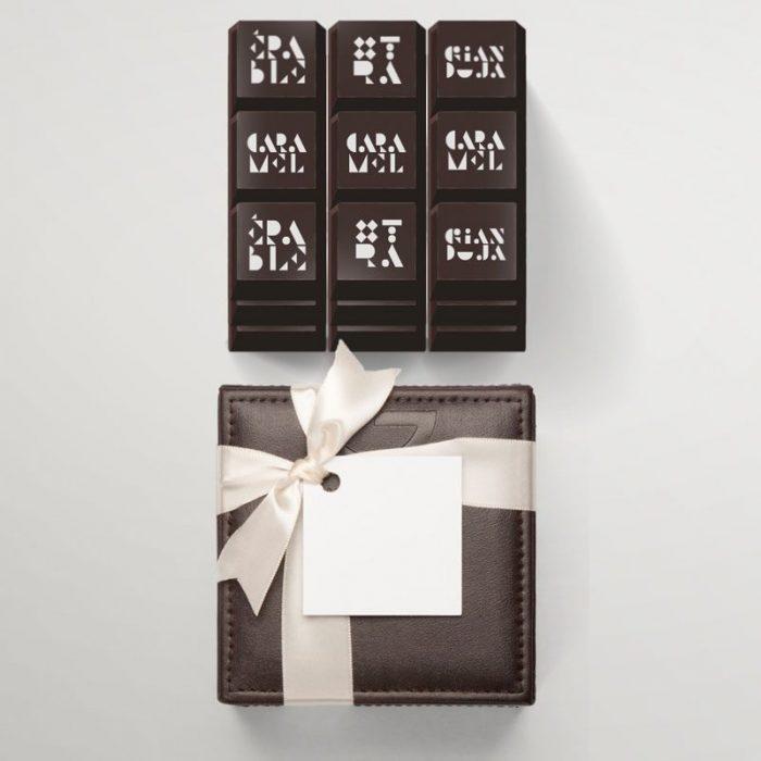 Leather gift box - 27 chocolates