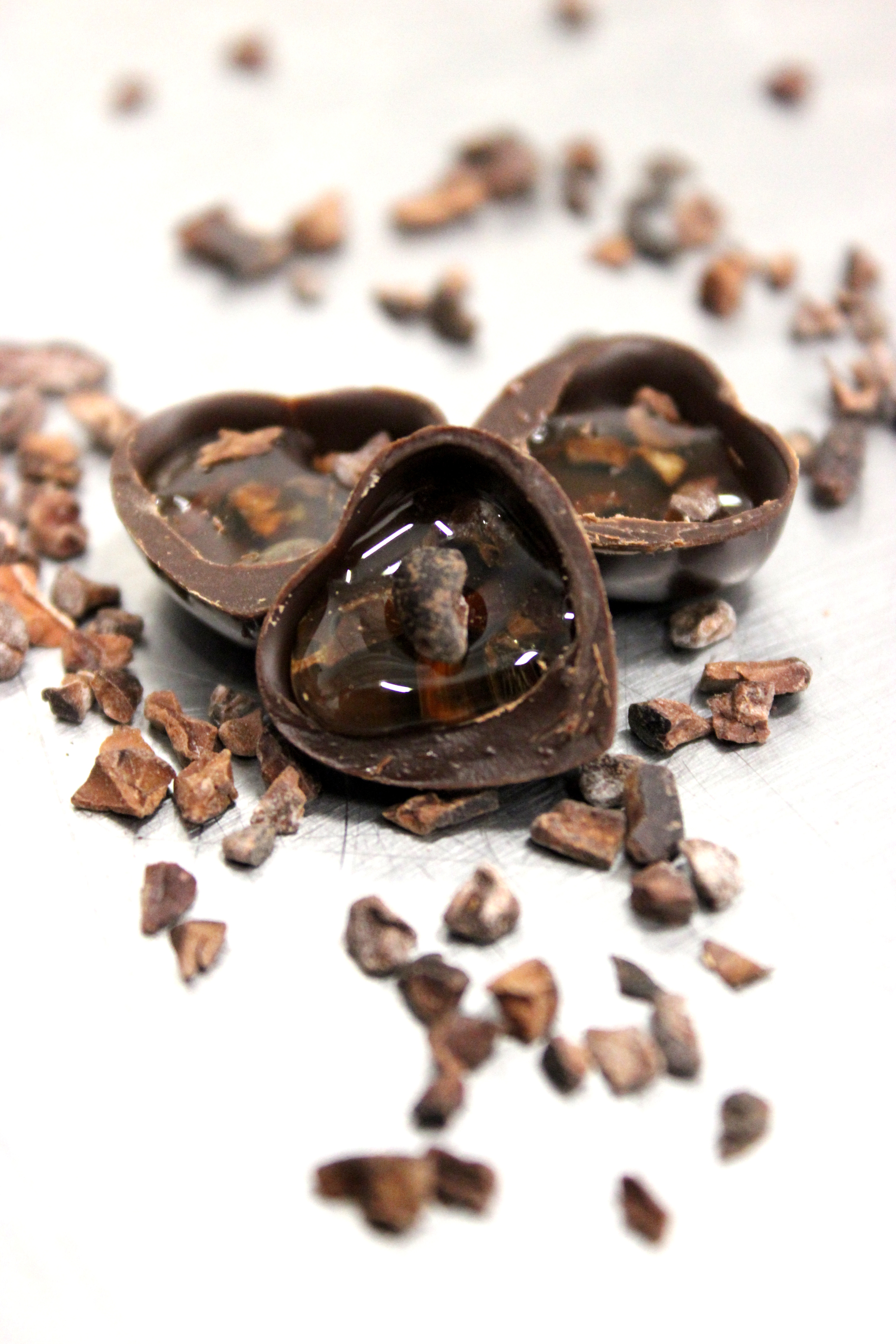 Coeurs en chocolat - Miel